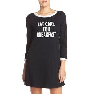 Kate Spade Eat Cake For Breakfast Sleep Shirt SM
